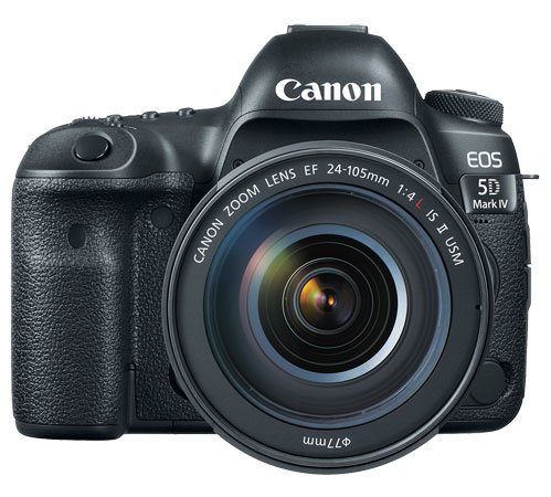 Canon EOS 5D Mark IV Front with Lens