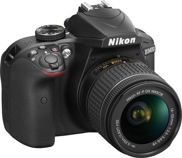 Nikon D3400 Front Angle Right