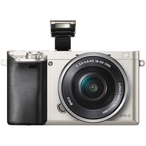 Sony a6000 Silver Flash
